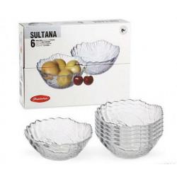 Набор салатников 12м/6шт Sultana Pasabahce 10286