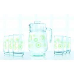Набор для воды 7 предметов Green Flakes Luminarc L6131