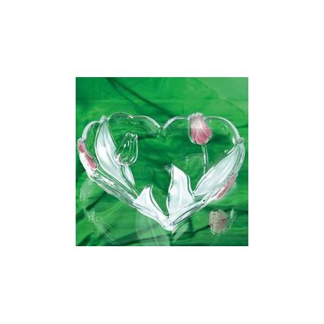 WG Nadin Satin-Rose Салатник сердце 240мм W6463
