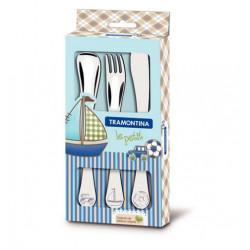 Набор столовых приборов 3 пр Tramontina BABY Le Petit blue (66973/000)