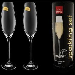 Бокалы для шампанского в тубусе 2 шт Rona Celebration