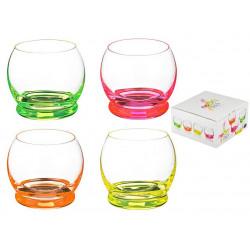 Набор стаканов Bohemia Crazy Neon 390 мл-4шт