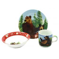 Детский набор 3пр Маша и медведь Interos 199