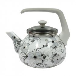 Чайник эмалированный с бакелитовой ручкой 2,2 л Кружево Interos 1279