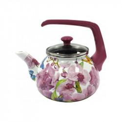 Чайник эмалированный с бакелитовой ручкой 2,2 л Орхидея Interos 15116