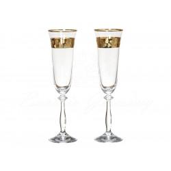 Набор бокалов для шампанского 190 мл/2шт Bohemia Angela Q8184/2
