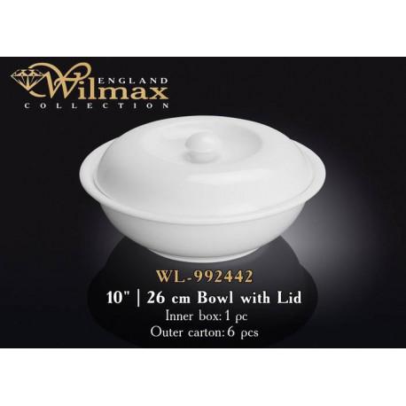 Миска с крышкой 26см Wilmax  WL-992442