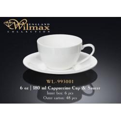 Wilmax Чашка д-капучино&блюдце 180мл WL-993001