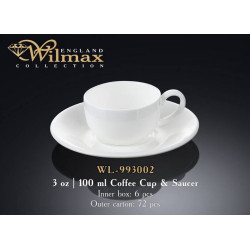 Wilmax Чашка кофейная&блюдце 100мл  WL-993002