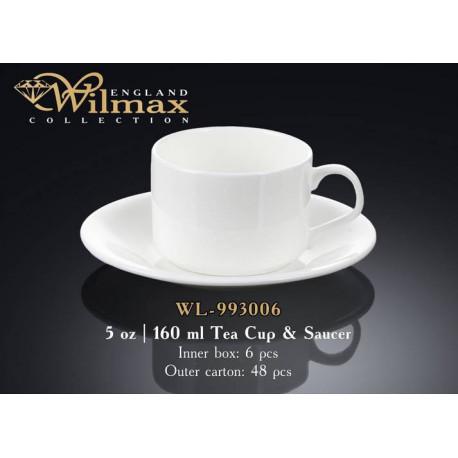 Чашка чайная и блюдце 160мл Wilmax WL-993006
