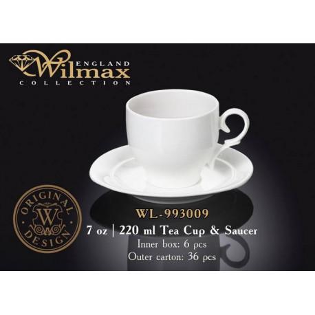 Чашка чайная и блюдце 220мл Wilmax  WL-993009