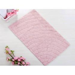 Коврик для ванной 50*80 Irya  Metrotiles розовый