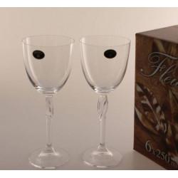 Бокалы для вина Bohemia Fleur 250 мл-6шт