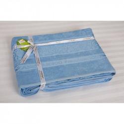 Простынь махровая 160х200 Cestepe Bamboo - Premium голубой
