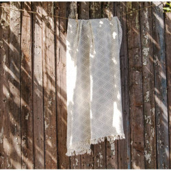 Плед - накидка 130х170 Barine - Diamond Throw grey серый