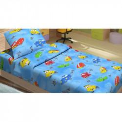 Детское постельное белье для младенцев Lotus ранфорс - Cars 95 голубой