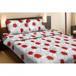 Постельное белье семейное Lotus Ranforce - Carmen V1 красное