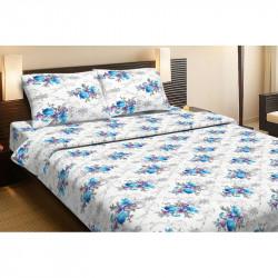 Постельное белье семейное Lotus Ranforce - Loise V1 синее