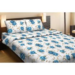 Постельное белье двуспальное Lotus Life Collection - Agnes синее