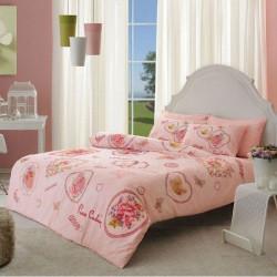 Постельное белье евро Pierre Cardin перкаль - Chelsey розовое
