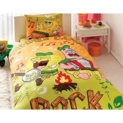 Постельное белье 160х220 подростковое Tac Disney - Sponge Bob Summer Camp