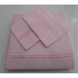 Постельное белье Tac Hotel Life евро - Kio V-2 pembe розовый