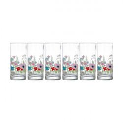 Набор стаканов высоких 270мл-6шт Luminarc Rose Pompon N3684