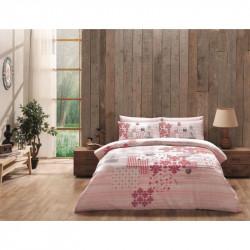 Постельное белье евро Tac ранфорс - Armina розовое