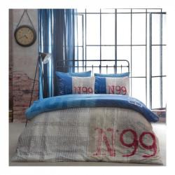 Постельное белье евро Tac ранфорс - Loft голубое