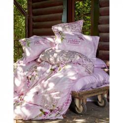 Постельное белье евро Karaca Home сатин - Wisteria 2016 pembe розовое