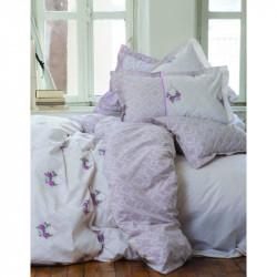 Постельное белье полуторное Karaca Home ранфорс - Alisse розовое