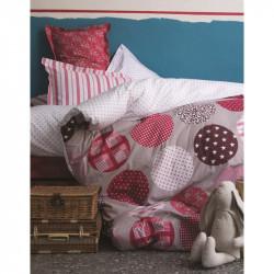 Постельное белье полуторное Karaca Home ранфорс - Gatsby красное