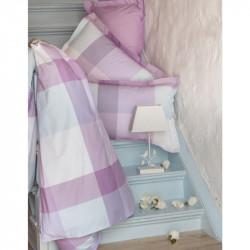 Постельное белье полуторное Karaca Home ранфорс - Leon лиловое