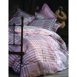 Постельное белье полуторное Karaca Home ранфорс - Melinda пудра