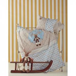 Постельное белье для младенцев Karaca Home апликация - Deer голубое