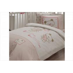 Постельное белье для младенцев Karaca Home ранфорс - Stelle розовый