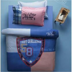 Постельное белье подростковое Karaca Home ранфорс - Rock синее