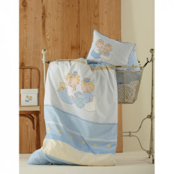 Постельное белье для младенцев Karaca Home перкаль - Mini голубое