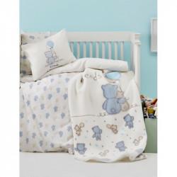 Детский плед в кроватку Karaca Home 100Х120 - Blue Bears 2017-1