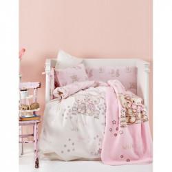 Детский плед в кроватку Karaca Home 100Х120 - Bunny Friends 2017-1