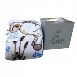 Детский плед в кроватку Karaca Home 100Х120 - Donkey's World крем