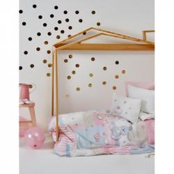 Детский плед в кроватку Karaca Home 100х120 - Honey Bunny pink