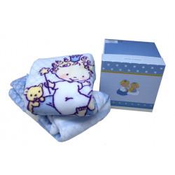 Детский плед в кроватку Karaca Home 100х120 - Mini акрил голубой
