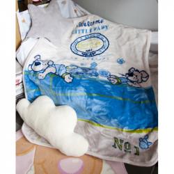Детский плед в кроватку Karaca Home 100х120 - Mr.Pati акрил голубой
