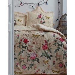 Постельное белье Karaca Home евро - Vanessa крем стеганое