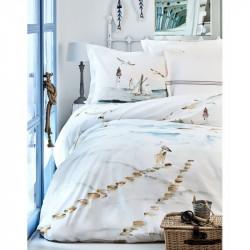 Постельное белье Karaca Home евро пике - Larina 2017-2 white