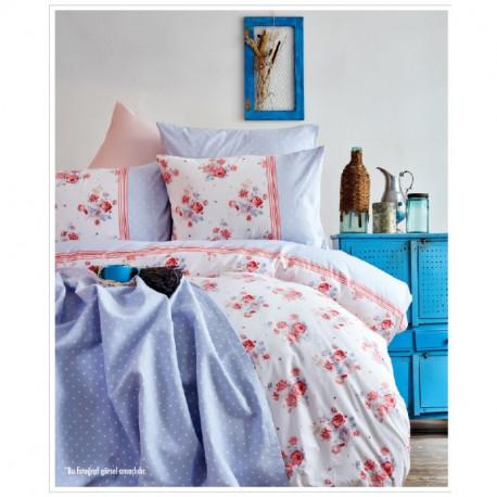 Набор постельное белье с покрывалом пике Karaca Home евро - Melina 2017-2 pembe