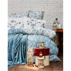 Набор постельное белье с покрывалом Karaca Home евро - Mathis 2017-1 turquise