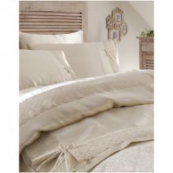 Набор постельное белье с покрывалом пике Karaca Home евро - Tugce 2016 bej