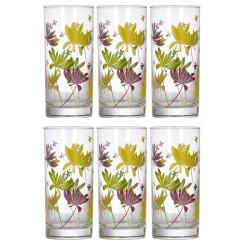 Набор стаканов высоких 270мл-6шт Luminarc Crazy Flowers N0753